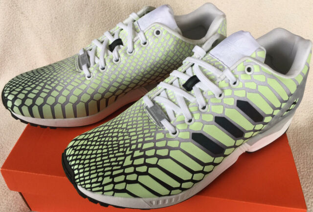 sale retailer a01d4 6e421 Adidas ZX Flux Xeno AQ4535 Glow Dark Torsion Marathon Running Shoes Men s 8  new