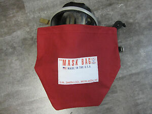 S.M. Smith Co. SCBA Mask Bag, MB3-301, 10 OZ Cotton Canvas W/ Fleece liner,Draw.