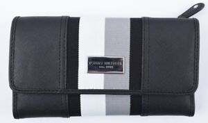 TOMMY-HILFIGER-Women-039-s-Faux-Saffiano-Leather-Trifold-Wallet-Black