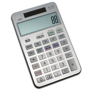 mts-fn-X88-OFFICE-Taschenrechner-Buero-Desktop-Solar-Premium-grosse-Tasten-silber