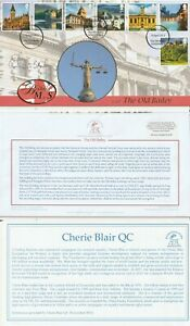 10 APRIL 2012 UK MtoS THE OLD BAILEY FIRST DAY COVER SIGNED CHERIE BLAIR QC