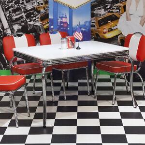 Das Bild Wird Geladen Esstisch Elvis Tisch Bistrotisch Edelstahl Weiss  American Diner