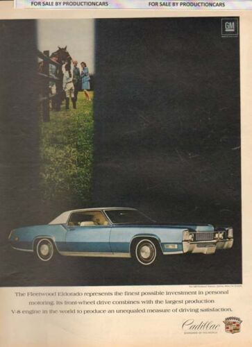 1969 Cadillac Eldorado blue 2-door Classic 10x13 Vintage Advertisement Ad LG10