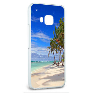 Snap-On-Protective-Slim-Hard-Case-for-HTC-One-M9-Tropical-Hibiscus-Beach