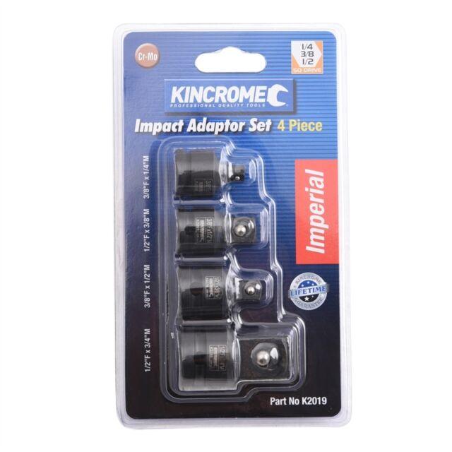 Kincrome 4 Piece Impact Adaptor Set AUSTRALIA Brand