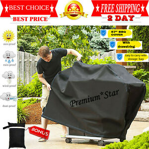 Weber-Grill-BBQ-Cover-Outdoor-Barbecue-Heavy-Duty-Waterproof-57-inches-Black-New