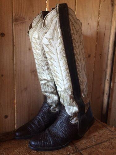 Paul Bond Mule Ear Tall Top Cowboy Boots Size 7
