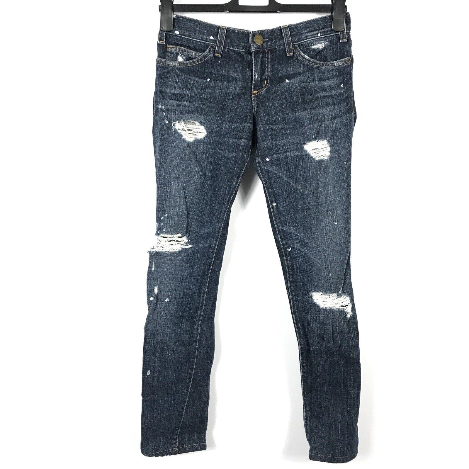 Current Elliott Women Size 24 0 The Skinny Denim Jeans Distressed