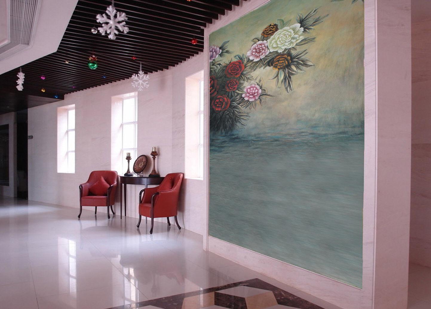 3D Farbige Blumen Malerei 94 Tapete Wandgemälde Tapete Tapeten Bild Familie DE