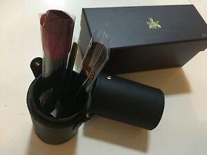 Guerlain-6pc-makeup-brush-set-in-holder-NEW-in-Box-face-cheek-eyeshadow-lip