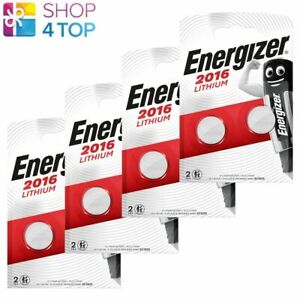 8 ENERGIZER CR2016 LITHIUM BATTERIES 3V COIN CELL DL2016 EXP 2029 2BL NEW