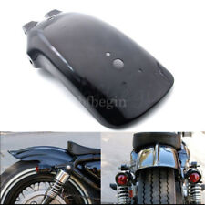 Rear Black Mudguard Fender Fit Cruiser Chopper Bobber Cafe Racer Honda Shadow