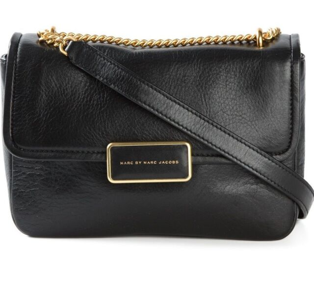 1c5b6e494e20 Marc Jacobs Black Leather Rebel 24 Chain Crossbody Bag for sale ...