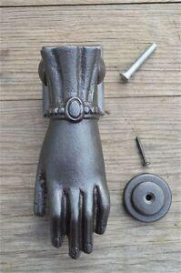 Elegant antique style ladies hand doorknocker cast iron door knocker complete