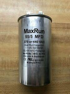 MAXRUN 55+5 MFD uf 370 or 440 Volt VAC Round Motor Dual Run Capacitor for AC Air