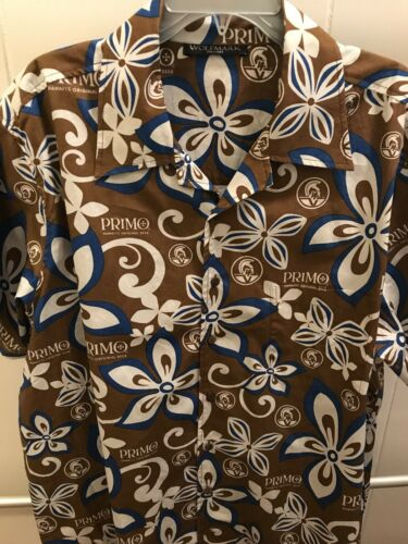 Primo Beer Mens Hawaiian Aloha Shirt