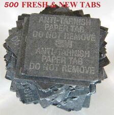3M Anti Tarnish Paper Tabs  1 X 1 in. 500 Strips New & Fresh