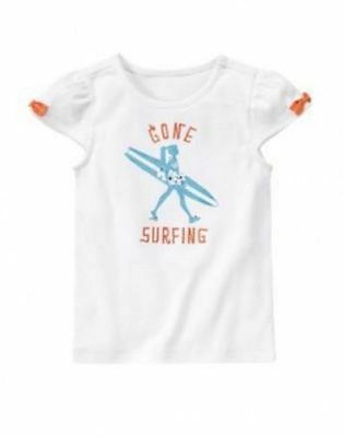 NWT Gymboree Girls Tropical Bloom White Gone Surfing Top Size S 7-8 5-6 M