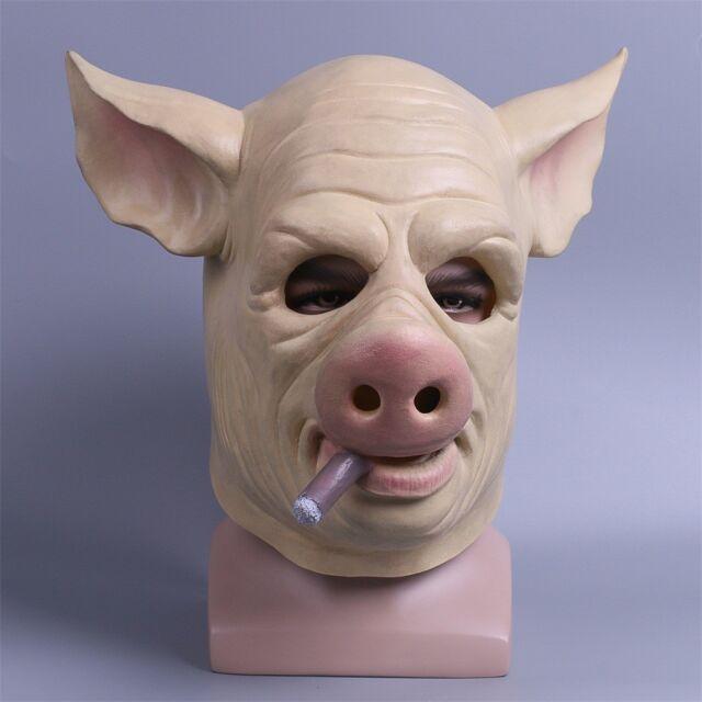 Game h1z1 Battle Royale Halloween Cosplay Mischievous Pig Latex Mask Helmet Prop