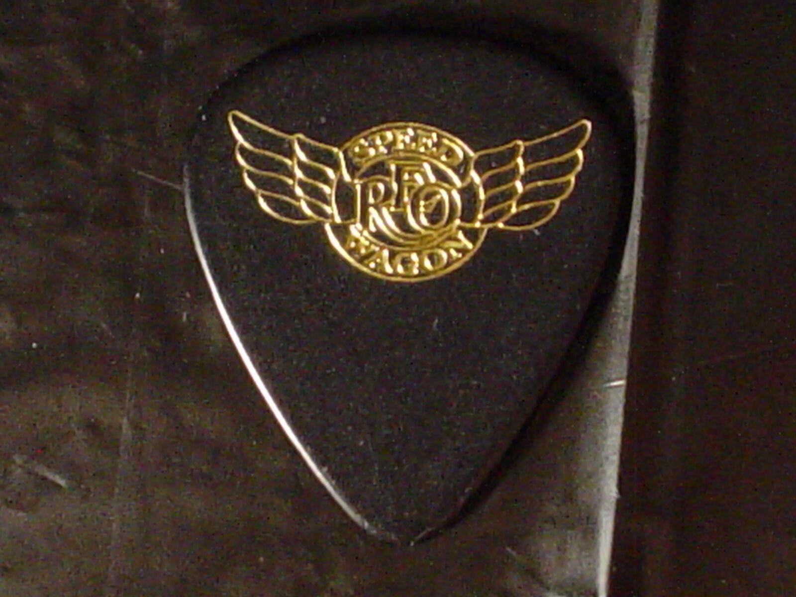 REO SPEEDWAGON Classic Rock Band Logo BRUCE HALL 1999 Concert Tour GUITAR PICK