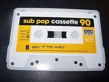 "SUB POP SEATTLE 4"" BEST OF THE WORST Cassette Sticker Decal pearl jam nirvana"