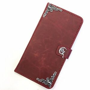 Moon-Tinker-Bell-Leather-Wallet-Flip-Stand-Case-Handmade-Cover-For-Apple-iPhone