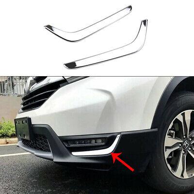 Chrome Rear Bumper Fog Light Cover Trim Decor fits Honda CRV CR-V 2017 2018 2019