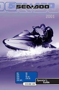 2001 gtx seadoo manual