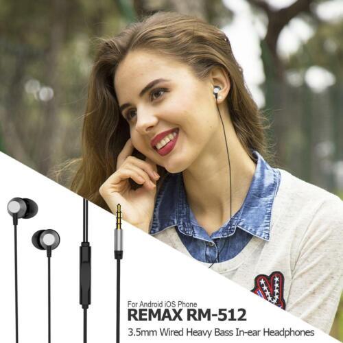 3,5 mm Super Bass In-Ear Kopfhörer Ohrhörer REMAX Headset Earphone Headphone