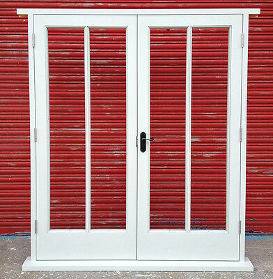 Wooden Hardwood 4 pane French Doors with sidelights! Bespoke! Made to measure!