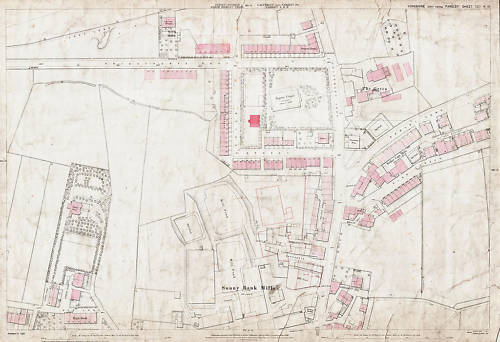 Farsley The Green 1891 Pudsey map 202-14-19