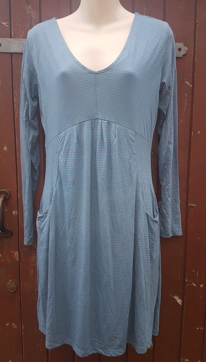 BNWT BRAINTREE Tunic Dress, bluee Grey Striped, Size M