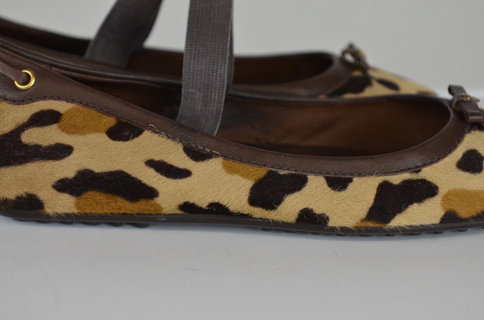 The Original Car shoes Leopard Print Women's shoes Size 38.5 Europe Size 8 US