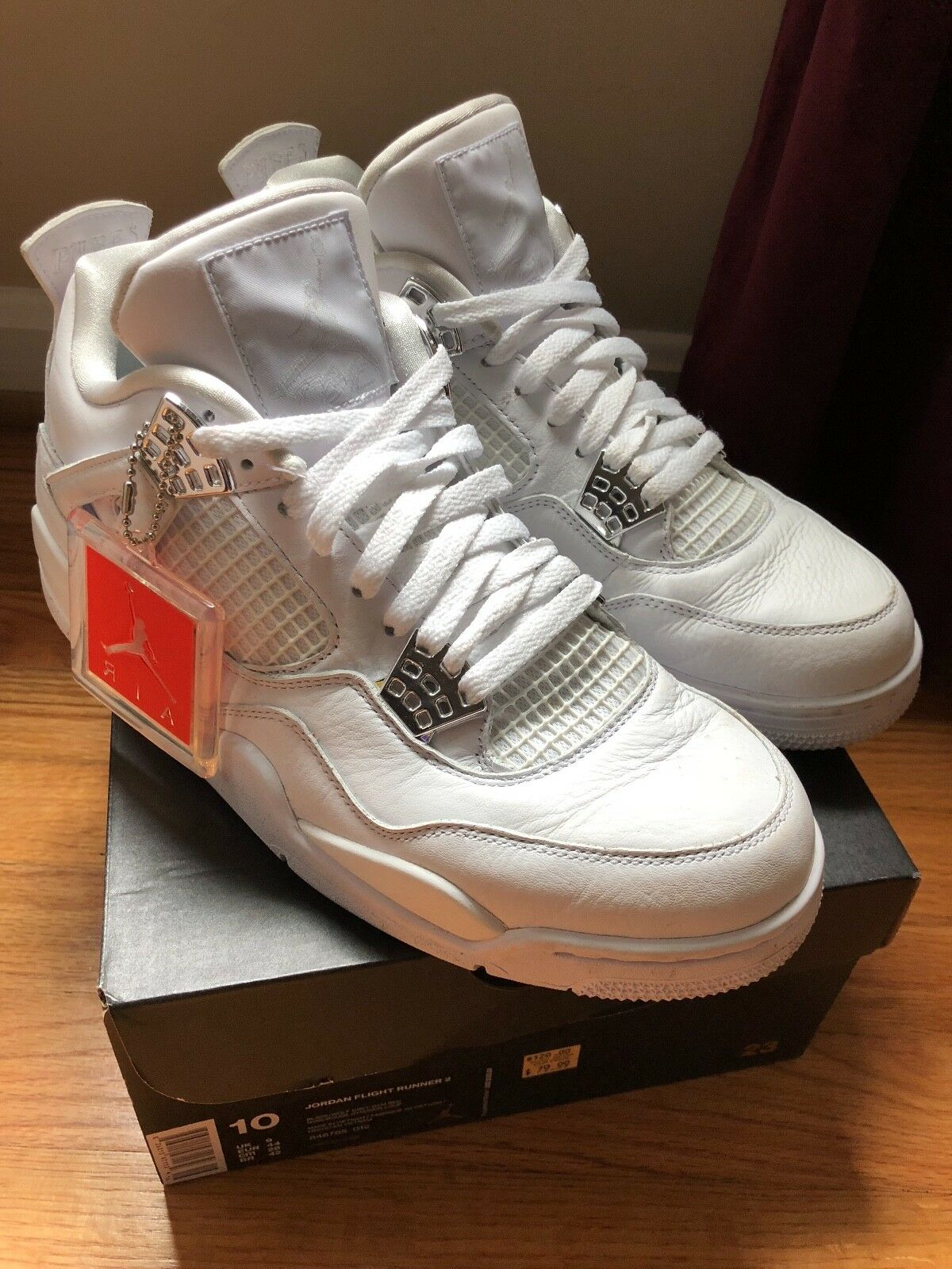 Air Jordan IV and V size 10. Pre owned from 2004 and 2005