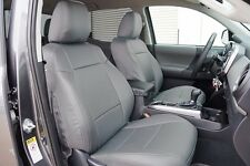 TOYOTA TACOMA 2016- GREY LEATHER-LIKE CUSTOM MADE FIT FRONT SEAT COVER