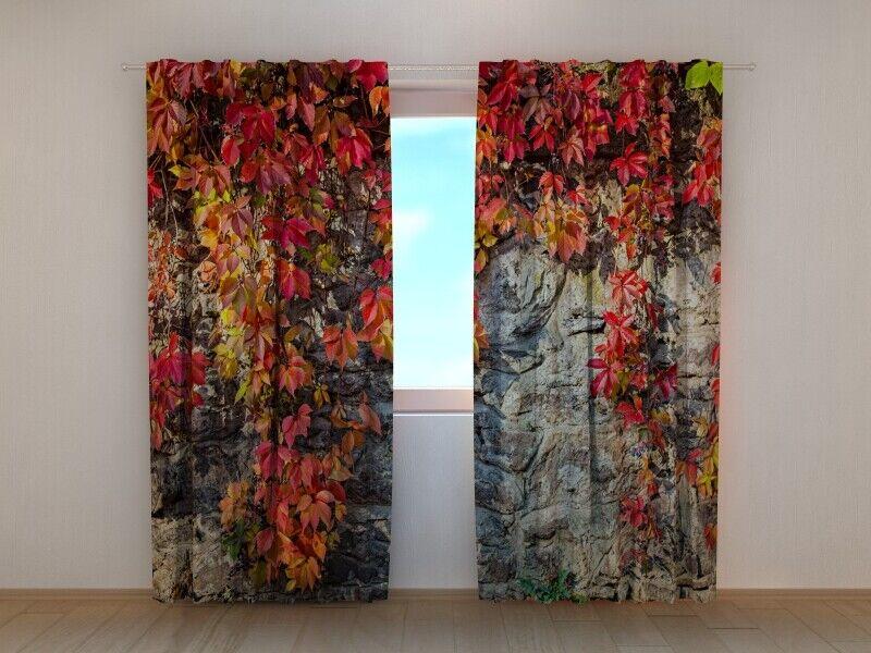 Fotogardine Herbstlaune , Vorhang mit Foto, Fotovorhang, Fensterdeko, auf Maß   Sale Online