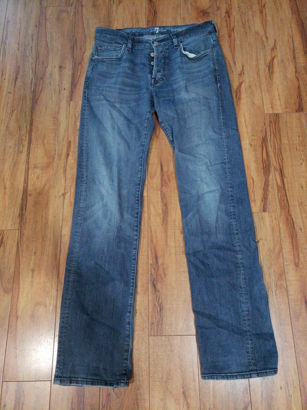 7 For All Mankind Standard Denim Jeans Men Size 32 x 34