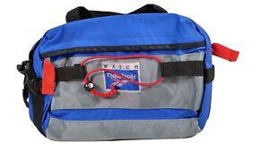 Vintage-REEBOK-Soft-Sided-Fanny-Pack-Hiking-Gym-Bag-Athletic-Bag-Blue-amp-Gray