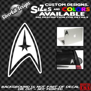 STAR-TREK-Federation-Custom-Vinyl-sticker-Laptop-Car-Truck-Window-Bumper-spock