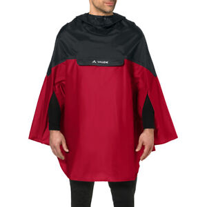 Vaude Covero Biking Rain Poncho II - Red