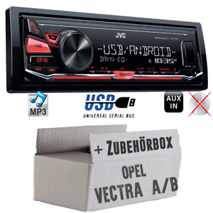 JVC-KFZ-Radio-fuer-Opel-Vectra-A-B-Android-4x50Watt-Auto-Set-MP3-USB-Autoradio
