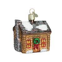 log Cabin (20015) Old World Christmas Ornament