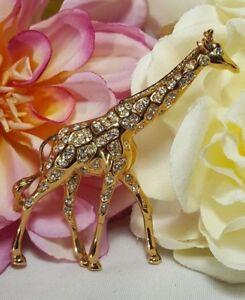 3d619e012 Image is loading Vintage-Gold-Swan-Swarovski-Crystal-Rare-Retired-Giraffe-