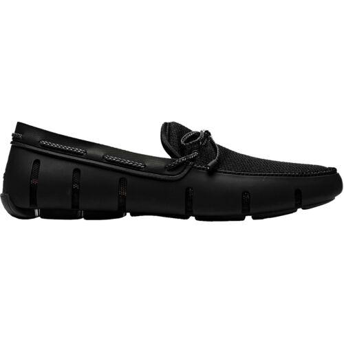Swims tressé Lacet Mocassin Chaussures Pour Homme Chaussures-Noir Toutes Tailles