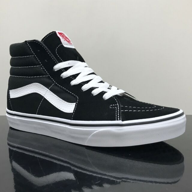 480b0973b VANS Sk8 Hi Classic Womens Trainers Black White Shoes 6 UK for sale ...
