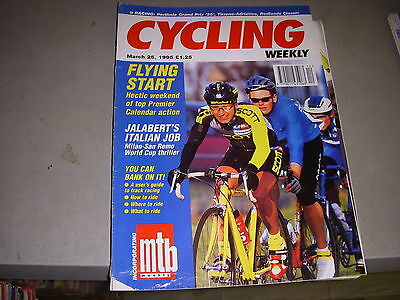Cycling weekly 12 25.03.1995 milan san remo jalabert ...