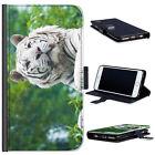 (bg0180) BIANCO TIGRE lusso pelle custodia per telefono cover cellulare