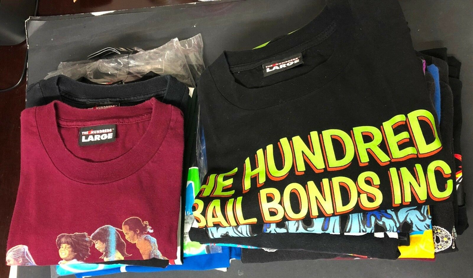 Huge Lot of 19 The Hundreds T Shirts Sz L Large Some NWT Rare HTF