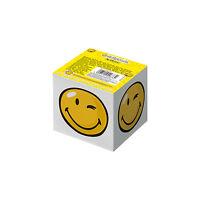 Herlitz Notizwürfel Smiley 8x8x7cm , Zettelklotz Notizklotz Block SmileyWorld