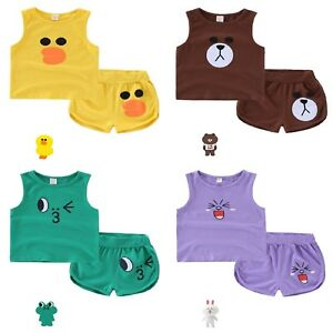 49423bfb0448 Cotton Clothing For Kids Baby Boy Cute Summer Vest Tops Pants Shorts ...